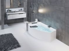 Scarica il catalogo e richiedi prezzi di Divina o by Novellini, vasca da bagno angolare asimmetrica design Massimo Farinatti, serie Divina