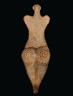 "ytellioglu: "" Spiral Goddess - c. 4000, Romania """