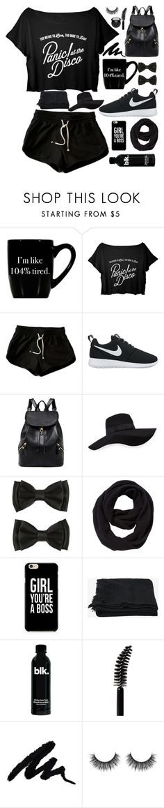"""""""Black is Back//RTD"""" by artemishunters ❤ liked on Polyvore featuring NIKE, San Diego Hat Co., John Lewis, Toast and LORAC"""