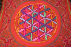 Flower of Life Hand Embroidered Tapestry by EveryThingIsSacred on Etsy