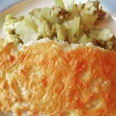 koolhydraatarme wittekool schotel Super Healthy Recipes, Ww Recipes, Low Carb Recipes, Low Carb Raffaelo, Zucchini Puffer, Quiche, Oven Dishes, Eat Smarter, Weight Watchers Meals