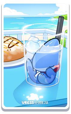 Card Art for July Patrons! Cute Animal Drawings, Kawaii Drawings, Cute Drawings, Cute Cartoon, Cartoon Brain, Penguin Cartoon, Ghost Cartoon, Batman Cartoon, Cartoon Turtle