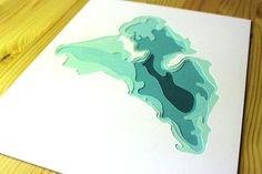 Papercraft Topo Maps As Modern Art