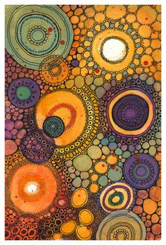 Making circles since 2005 by DoodlePaintings Abstract Watercolor, Watercolor And Ink, Alcohol Ink Art, Indigenous Art, Aboriginal Art, Dot Painting, Art Journal Pages, Doodle Art, Art Boards