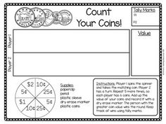 FREE Canadian Money Game: Count Your Coins! by Primary Teaching Resources Teaching Money, Teaching Math, Teaching Measurement, Primary Teaching, Teaching Resources, Canadian Penny, Canadian Coins, Money Activities, Money Games