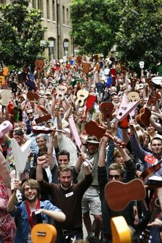 London Ukulele Festival. When I was in college I played a baritone uke.  I was a camp nurse one summer and would stand on the balcony and serenade the campers when they came to dinner. Boy that was a long time ago!