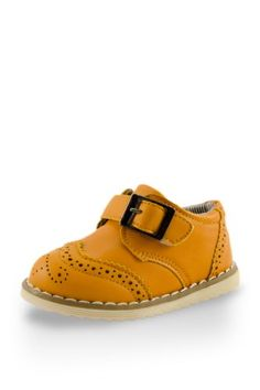 Adorable Baby Boy Leather Training Shoe With Buckle By Twinkie Gold Size 6 -- You can find out more details at the link of the image.Note:It is affiliate link to Amazon. #likes4likes