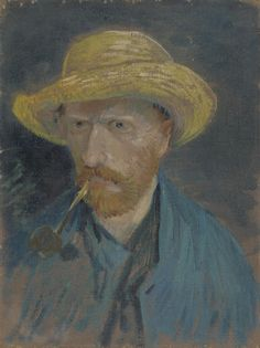Self-Portrait with Straw Hat and Pipe Paris, July - August 1887 Vincent van Gogh (1853 - 1890) oil on canvas, 42.5 cm x 32.1 cm Van Gogh Museum, Amsterdam (Vincent van Gogh Foundation) http://www.vangoghmuseum.nl/en/collection/s0068V1962v