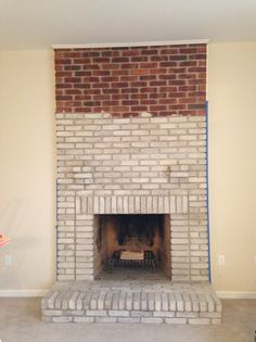 Stunning 7 Brick Fireplace Mantle Design Ideas On A Budget Brick Fireplace Mantle Design Ideas. The fireplace is an architectural structure made of brick, stone or metal that is designed to contain the fire. In the the fireplace was used to create a… Fireplace Mantle Designs, Brick Fireplace Mantles, White Wash Brick Fireplace, Painted Brick Fireplaces, Fireplace Update, Brick Fireplace Makeover, White Brick Walls, Living Room With Fireplace, Fireplace Whitewash