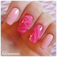 """Watermarble nails ❤❤"" Check out my instagram @liliumzz  #nail #nails #nailart #naildesign#nailpolish #nailstagram #manicure #mani #neglelakk #nailspiration #nagellack  #notd #nailsoftheday #liliumzz #cutenails #cutemani #nails2inspire #watermarblenails #watermarble #pinkpolish #pinknails"