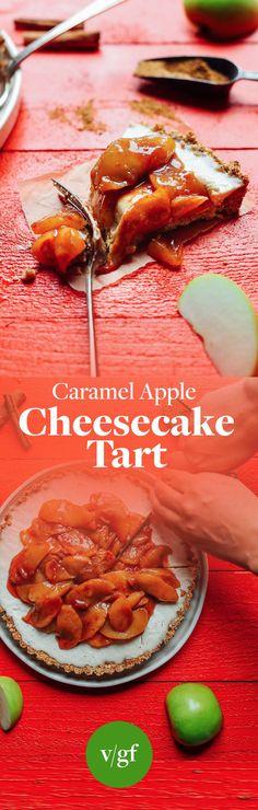 INCREDIBLE Caramel Apple Tart! 10 ingredients, naturally sweetened, SO delicious! #vegan #apple #tart #plantbased #thanksgiving #recipe #glutenfree #minimalistbaker