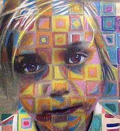 Ms. Walker's Art Info: Art 1 - Grid Self Portrait in Colored Pencil: Resources & Options