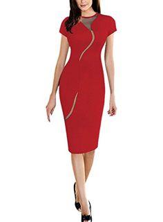 e70be6a23d7 Womens Elegant Sexy Irregular See Through Mesh Back Zipper Club Clubwear  Tunic Party Stretch Bodycon Sheath Office Pencil Dress