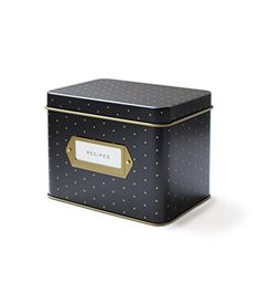 Polka Dot Recipe File Box by Rifle Paper Co. Cute for any small storage.