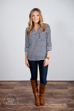Striped Fall Blouse! | Jane