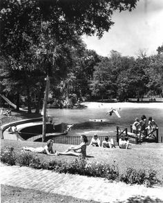 Visual Ephemera: Sanlando Springs old florida swimming hole now past history housing development
