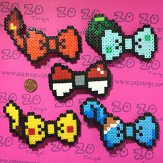 Etsy の Pokemon Pixel Bows by ZoZoTings