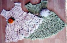 vestidos para bebê em croche com receita