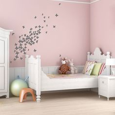 Flock of Butterflies Wall Quote Decal