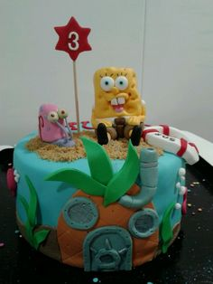 Tarta Bob esponja!! En www.cuinacatering.com, por Teresa Calvo Esteban