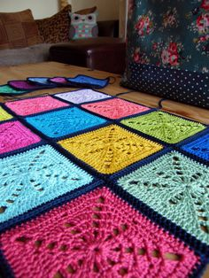 @ Annies Place: Sunray square from Jan Eaton - 200 Crochet Blocks....