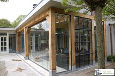 Van Meel Timmerwerken: dé specialist in luxe eikenhouten bijgebouwen. Outdoor Rooms, Outdoor Living, Outdoor Decor, House Extension Design, House Design, Gazebos, Marquise, Garden Office, House Extensions