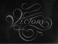 Victory by Drew Melton. Awesome letterforms.