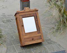 Rustic reclaimed Medicine Cabinet with mirror  Barnwood