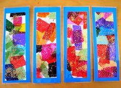 Paper de seda i purpurina Ecole Art, Arts And Crafts, Diy Crafts, Kindergarten Art, Some Ideas, Spring Crafts, Art Education, Bookmarks, Art For Kids
