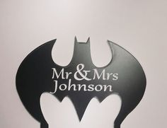 Personalized Wedding Cake Topper Mr & Mrs  by 1TheCherryOnTop