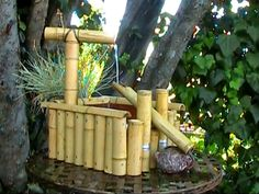fuente cascada hecha con cañas-eltallerdejazmin