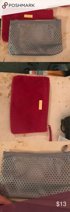2 Ipsy Makeup Bags Two new and unused makeup bags from ipsy. One is kind of a pink color & the other is a grey/blue color. These are perfect for holding makeup or toiletries when traveling or just keeping your items in a bag around the house!  ipsy Bags Cosmetic Bags & Cases