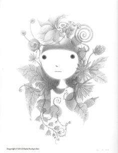 A Girl and A Cat by Kaila Eunhye Seo, via Behance  |  Beautiful and delicate pencil work.