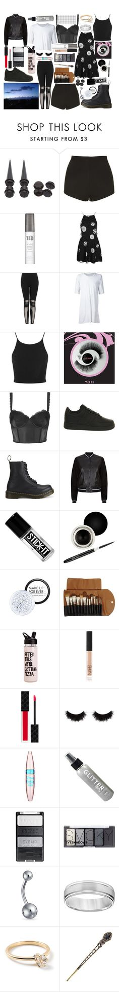 """Untitled #234"" by jade-bellex ❤ liked on Polyvore featuring Topshop, Urban Decay, Boris Bidjan Saberi, Miss Selfridge, NIKE, Dr. Martens, rag & bone, Nouba, MAKE UP FOR EVER and Claudio Riaz"