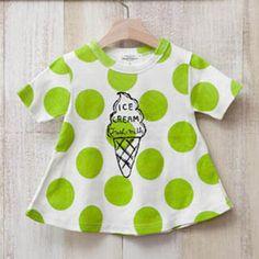 b668d5201e3ca Green Tomato ソフトクリームTシャツ(グリーン) - 韓国子供服 通販 リズハピネス  キッズ服 ベビー服 男の子 女の子   こども服セレクトショップ