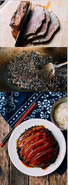 Mei Cai Kou Rou - Steamed Pork Belly with Preserved Mustard Greens