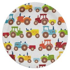 Shop Red and Green Tractors Paper Plates created by Personalize it with photos & text or purchase as is! Red Tractor Birthday, 1st Boy Birthday, Birthday Ideas, Farm Themed Party, Farm Party, Tractor Decor, Custom Plates, Paper Plates, Party Supplies