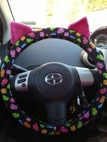 Quick And Easy Steering Wheel Cover [sew it yourself--ears are optional!]