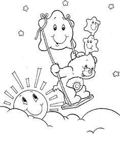 Care Bear Playing With Stars Coloring Pages - Care Bears Coloring Pages : KidsDrawing – Free Coloring Pages Online