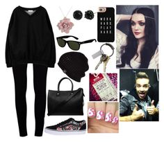 """""""Visiting Liam Backstage while he's on tour"""" by myaglynn ❤ liked on Polyvore featuring J Brand, Vans, Betsey Johnson, Roberto Coin, Casetify, Ray-Ban, Paul & Joe, CB2 and UGG Australia"""