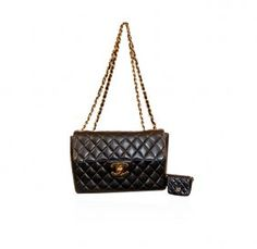 Authentic Chanel Black Timeless Classic Flap Bag-Deep Discounts!!!