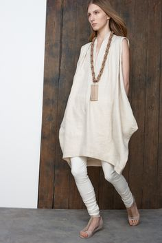 elevated sack dress shaping nubu | resort 2015