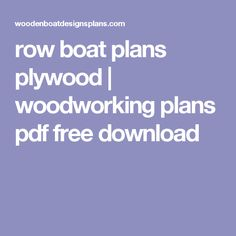 row boat plans plywood | woodworking plans pdf free download