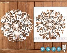 Flower Svg Papercut Template   Flowers Svg, Cut File   Daisy svg   Gerbera Svg   Flowers Clipart   Vector   Cricut, Silhouette   Die Cut For personal and commercial use. Original designs in SVG, PNG, PDF, EPS formats.