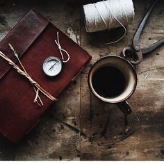 Gorgeous coffee and Scaramanga journal from Instagram Feed, Instagram Posts, Leather Journal, Shoulder Bag, Journals, Coffee, Table, Black, Kaffee