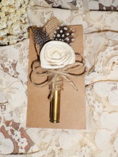 Rustic Bullet Boutonniere by tatteredgrace on Etsy