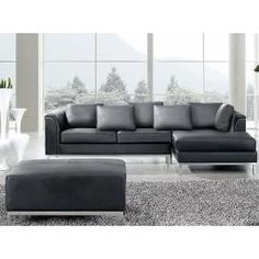 Ledercouch anthrazit  Design Ledersofa Senta - Nettes Sofa, oder? http://www.moebilia.de ...