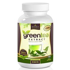 Botanica Green Tea Extract Fat Burner Supplement - With EGCG Antioxidant and Polyphenol Catechins To Increase Energy - 500mg 180 Capsule Pills -- More info could be found at the image url.