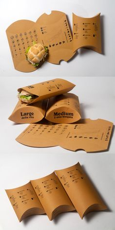 take away sandwich packaging for Treviso | Alberto Carlo Cafara - gondeldoosje voor broodjes