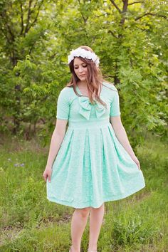 the EMALINE bow dress pattern   see kate sew